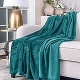 SOCHOW Flanell-Überwurfdecke für alle Jahreszeiten, für Bett, Sofa, Auto, Polyester, Petrol, 150cm×200cm