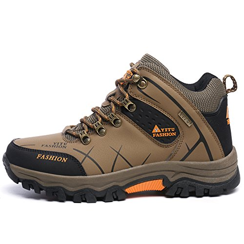 Laiwodun Chaussures de randonnée de randonnée pour Homme Étanche avec Un Amortissement Parfait - Marron - Braun-2, 38 EU par  Laiwodun