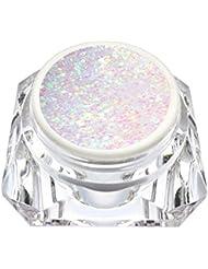 km-nails Lot de extrêmement Diamant Glitter Gel Blanc de Rose irisé 15ml