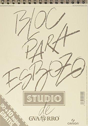 Bloc de papel para bocetos a carboncillo y grafito Canson Studio Esbozo