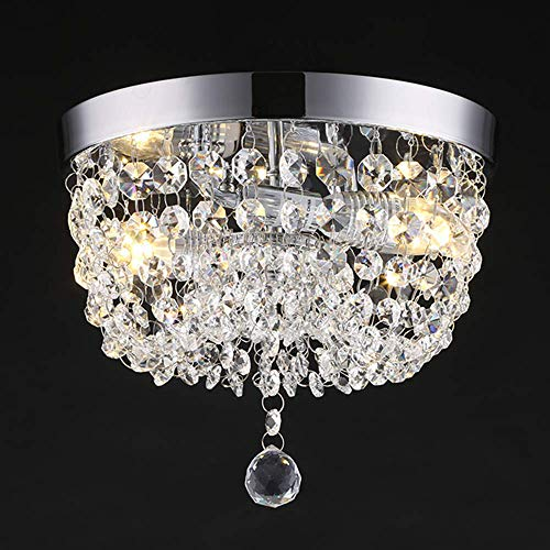 Dellemade 2-Licht Kristall kronleuchter, Modern Deckenleuchte Für Treppenhaus, Bar, Küche, Esszimmer, Kinderzimmer 25CM