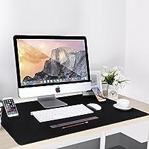 Alfombrilla Ratón Tamaño XXL, Cojoie Alfombrilla Ratón para Gaming y Oficina con Gran Tamaño (885 x 580 mm), Mousepad con Doble Soporte para Teléfono, Amplia y Durable, Negro