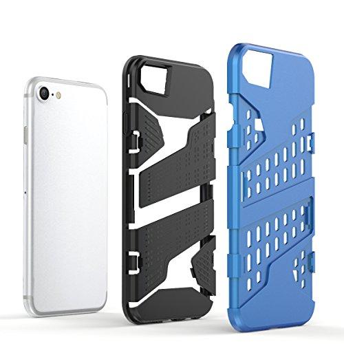 "iPhone 6s Plus Hülle, HICASER Hybrid Shock Proof TPU Case Mesh PC Bumper Frame Handytasche Schutzhülle für iPhone 6 Plus / 6s Plus 5.5"" Hellblau Gold"