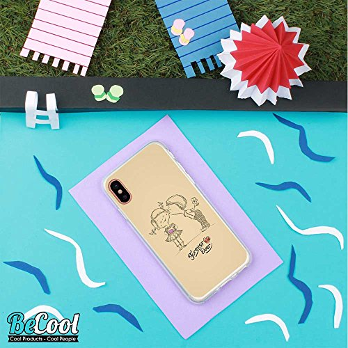 BeCool®- Coque Etui Housse en GEL Flex Silicone TPU Iphone 8, Carcasse TPU fabriquée avec la meilleure Silicone, protège et s'adapte a la perfection a ton Smartphone et avec notre design exclusif. Tee D1118