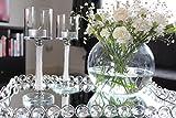 HCAA Kerzenhalter mit Swarovski-Kristallen in Säule, Set von 2, für Teelichter, Abendessen