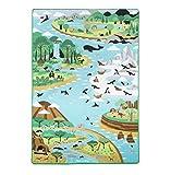 Melissa & Doug- Spielteppich Krabbelmatte mit Tieren- Motiv Savanne Australien Arktis, 200x148cm, Mehrfarbig