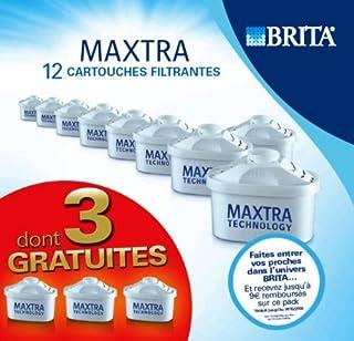 Brita L07324 Pack de 9 Cartouches filtrantes Maxtra + 3 Cartouches OfferteS Capacité de filtration unitaire d'environ 150 litres (B0015UWEKI) | Amazon price tracker / tracking, Amazon price history charts, Amazon price watches, Amazon price drop alerts