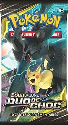Pokemon Modèle aléatoire Booster Soleil et Lune-Duo de Choc (SL09), POSL902, Cartes à Collectionner