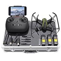 Super grand angle C'est un drone commandé par radio à 2,4GHz commandé à distance, qui prend en charge le mode sans tête, le mode de maintien de l'altitude et le mode VR, et dispose d'une caméra HD grand angle de 720P 120 ° pour prendre des photos et ...