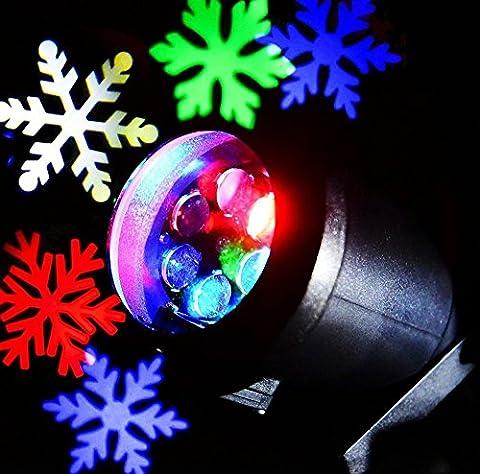 Wasserdicht LED Schneeflocke Projektor Weihnachtsbeleuchtung Gartenleuchte Outdoor Gartenstrahler Outdoor Weihnachten