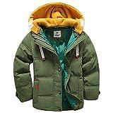 LSERVER-Winterjacke für Kinder Jungen Mädchen verdickte Daunenjacken Mantel Trenchcoat Outerwear mit Kapuzen