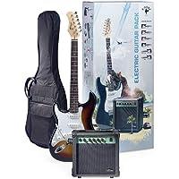 Stagg ESURF 250LHSBEU LH Pack Guitare électrique Standard Gaucher + Amplifier Sunburst