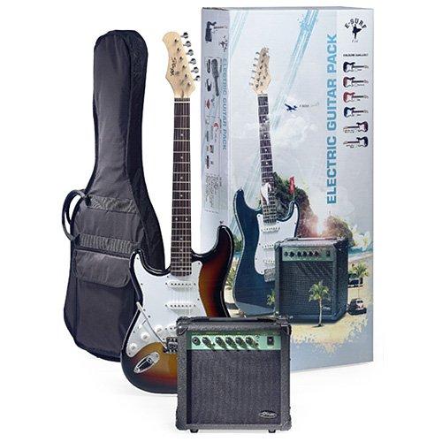 Stagg eSurf LHSBA LH 250 estándar de la guitarra eléctrica del resplandor solar Paquete izquierda Amplificador