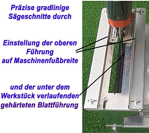 Stichsägetisch Trenn-Biber 012L+ Bosch Metabo Festool u. 3 lange Holz T-Schaft Stichsägeblätter für Stichsägen als Laminat Schneider, Sägestation - 9