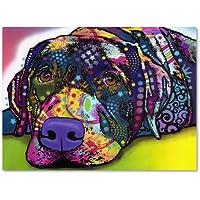 Trademark Fine Art Savvy Labrador Artwork by Dean Russo, 18 by 24-Inch preiswert