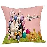 Ostern Deko Kissen ZYUEER Osterei Kaninchen-Umarmung Kissenbezug