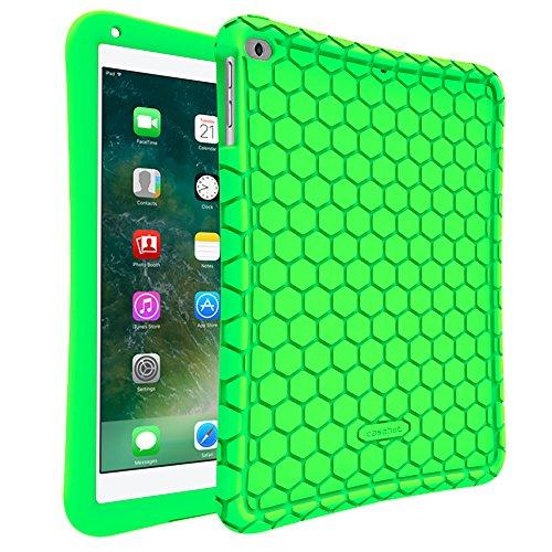 Fintie Silikon Hülle für iPad 9.7 Zoll 2018 2017 / iPad Air 2 / iPad Air - [Bienenstock Serie] Leichte rutschfeste Stoßfeste Schutzhülle Tasche Case Cover, Grün - 4. Generation Ipad 64 Gb