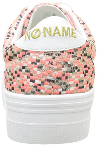 No Name Plato, Baskets Basses Femme Rose (Square Pink)