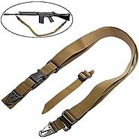 Matata Portafusil de 3 puntos para rifle correa ajustable al hombro para deportes al aire libre caza multius (Canela)