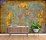 Papier Peint 3D Mural Européen Carte Ancienne Jeu En Ligne World Of Warcraft Carte Fond D'Écran,140X100Cm...