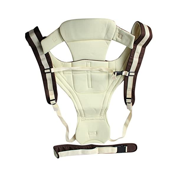 Vine Adjustable 4 Positions Baby Carrier 3D Backpack Pouch Bag Infant Wrap Soft Structured Ergonomic Sling Front Back Khaki Vine 4 carrying position modes: Chest way, kangaroo style, back carry, cross arm carry Wide padded straps for the relief of Baby's weight, helps prevent back ache Adjustable shoulder belt, double-protection safety buckle lock, 3D ventilating back pad 3