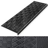 Marchette d'escalier casa pura tapis surface antidérapante | caoutchouc - haute sécurité | résistant aux intempéries | Madras, 25x75cm - 5 pièces
