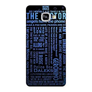 Gorgeous Blue Doc Angel Back Case Cover for Galaxy A5 2016
