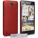 Yousave Accessories Harte Hybrid Schutzhülle Für Huawei Ascend G740–Rot