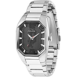 Police Octane Women's Watch with Black Dial Analogue Display and Silver Stainless Steel Bracelet 12895Ls/02M