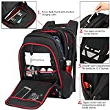 "Laptop Backpack 17.3"" for Men Waterproof Traveling Rucksack with USB Charging Port Anti Theft Business Work College Bag Daypack Fits All 17.3"" Notebooks Laptops Black by OUTJOY"