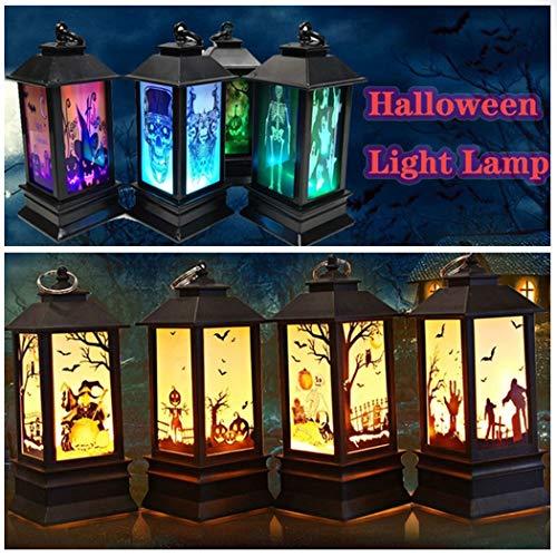 Eroihe Lámpara de Halloween Decoración del Hogar Luz de Noche LED
