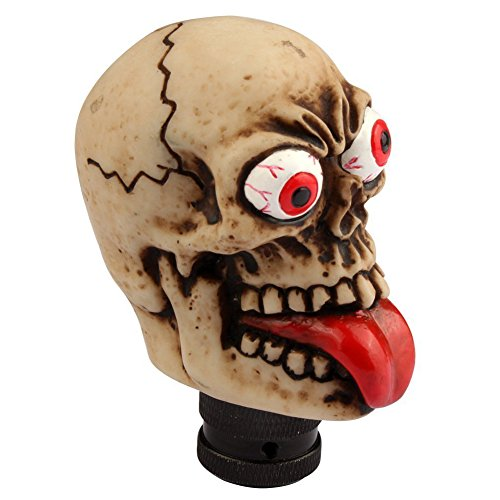haoworld Universal Car Auto Fashion Human Skull Stick Shift Gear Shifter Lever Knob long-tongued Ghost marches