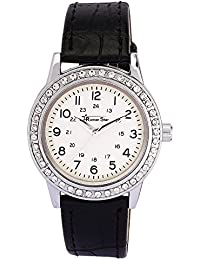 Roman Star Women's N-RS29_14 Silver Coloured With Black Leather Strap Analog Quartz Watch
