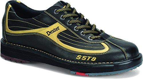 Herren Bowlingschuhe Dexter SST 8 schwarz/gold Echtleder (US 10.5 (43))