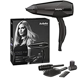 hairdryer - 51EV6Jy2TYL - BaByliss® Power 2100 Professional Lightweight Styling Electric Hair Dryer Hairdryer 2100W Black