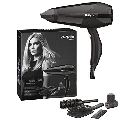 hairdryer - 51EV6Jy2TYL - BaByliss Power 2100 Professional Lightweight Styling Electric Hair Dryer Hairdryer 2100W Black
