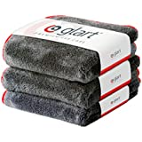 Glart 443TP Set of 3 Super Absorbent Microfibre Thick Plush Cloths for Car and Motorbike Paint Care, Cleaning, Buffing, Polishing, Drying  40 x 40 cm