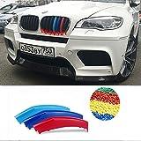 M Power Bonnet capucha riñón Grille rayas para Decor para BMW X62012–2014M Sport Tech 3Color