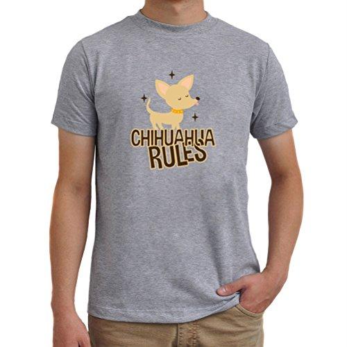 Maglietta Chihuahua rules Grigio melange