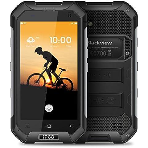 Blackview BV6000 4.7 Pollici 1280*720 Pixel Android 6.0 Smartphone IP68 Impermeabile MT6755 Octa-core 2.0GHz 3GB di RAM 32GB ROM 2G / 3G / 4G FDD-LTE All'aperto Cellulare (Nero) - B / N Luce Di Emergenza