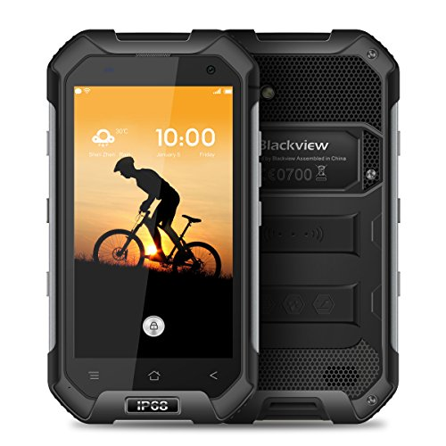Blackview BV6000,smartphone ohne vertrag 4g,IP68,Android 7.0,Batteria 4500mAh,4.7 pollice HDips 720*1280,3 GB RAM+32 GB ROM,5.0MP+13.0MP macchina fotografica,MT6755 Octa-core 2.0 GHz,all'aperto impermeabile smartphone,Nero