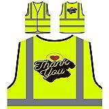 Retro-Ringraziamento-Scheda Personalizzato Hi Visibilità Giacca Gilet di sicurezza i700v
