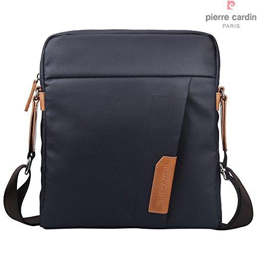 pierre-cardin-casual-impermeable-ipad-bolsa-de-lona-cubierta-y-bolso-de-cuero-genuino-messenger-bag-