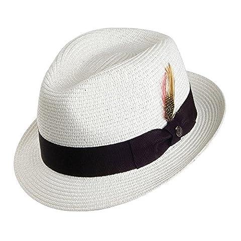 Jaxon & James Toyo Straw Trilby Hat - White LARGE