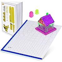 Alfombrilla para bolígrafo 3D con plantilla básica, con libros de bolígrafo 3D y 2 tapones de silicona para los dedos