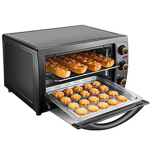 Mini-Ofen Mit Grill | Schneller Aufheiz-Toaster-Ofen | 60-Minuten-Timer | Inklusive Grillrost Und Backblech | 1300w | Schwarz (Schnelle Toaster Ofen)