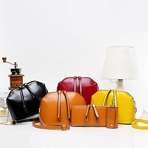 X&L Damen Vintage Mutter und Tochter Kind Öl vier-Stück-Set Ballen brown leather