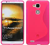 Huawei Ascend Mate 7 Silikon Hülle Schale Tasche in Pink @ Energmix
