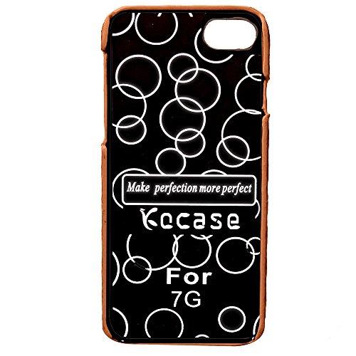 Voguecase® Pour Apple iPhone 7 4,7, Rigide Plastique Shell Housse Coque Étui Case Cover(Vine motif-Gris)de Gratuit stylet l'écran aléatoire universelle Or