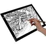 Cobee Tablette Lumineuse A4 LED Pad A4 pour Dessiner Tablette Esquisse Planche à Dessin Panneau Dessin Luminosité Réglable avec Cable USB